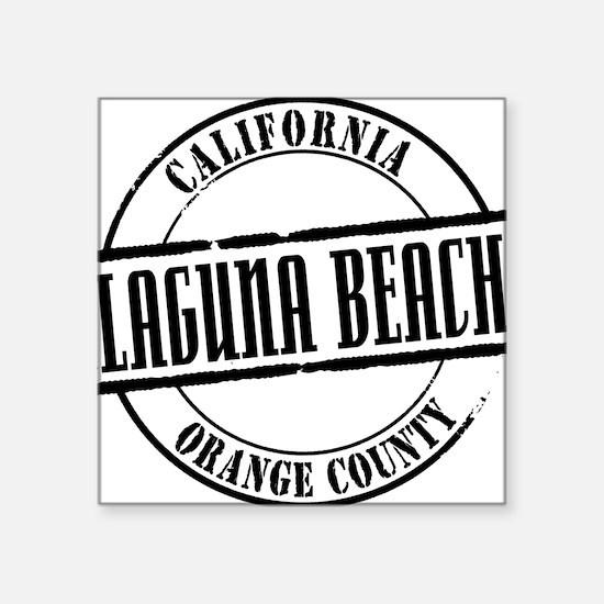 """Laguna Beach Title W Square Sticker 3"""" x 3"""""""