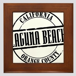 Laguna Beach Title W Framed Tile