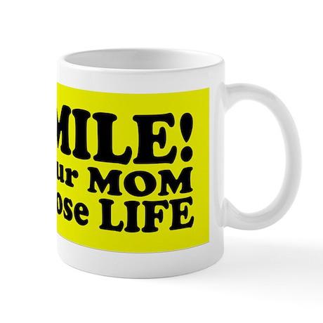 life sticker Mug