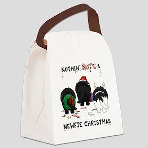 NewfieShirtLight Canvas Lunch Bag