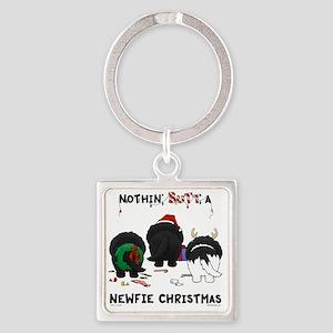 NewfieShirtLight Square Keychain