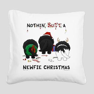 NewfieShirtLight Square Canvas Pillow