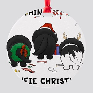 NewfieShirtLight Round Ornament