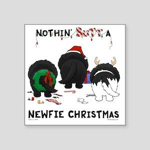 "NewfieShirtLight Square Sticker 3"" x 3"""
