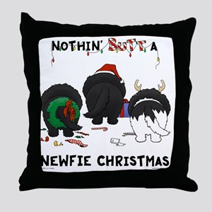 NewfieShirtLight Throw Pillow