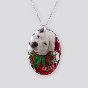 Pit Bull Tia Necklace Oval Charm