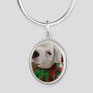 Pit Bull Tia Silver Oval Necklace