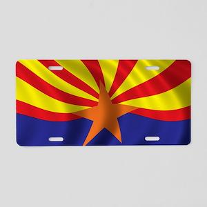 arizona_flag Aluminum License Plate