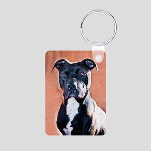 Xena Pit Bull Aluminum Photo Keychain