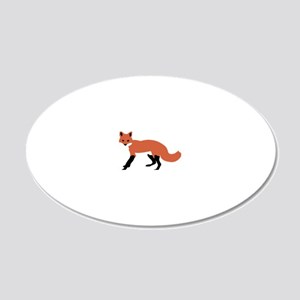 fox_transparent 20x12 Oval Wall Decal