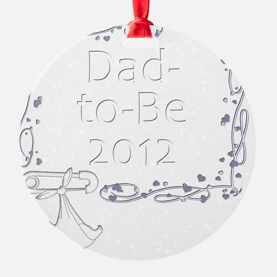 BlkShirtSwrl2_DadToBe12 Ornament