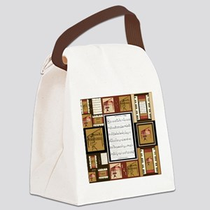 Pianos and Sheet Music Canvas Lunch Bag