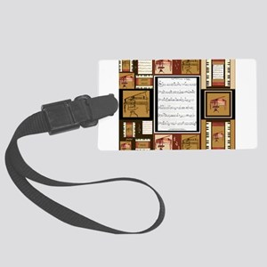 Pianos and Sheet Music Luggage Tag