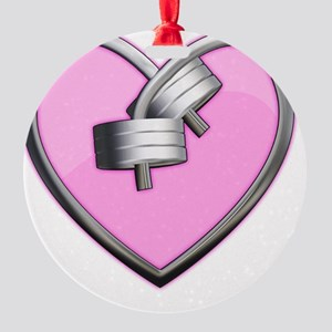 heart Round Ornament