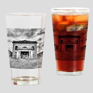 16x20_poster-garystationBW Drinking Glass