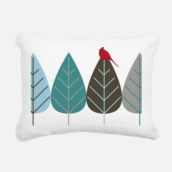wintertreeandbird Rectangular Canvas Pillow