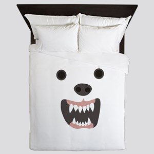 Angry White Dog Queen Duvet