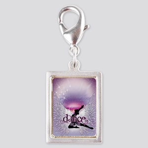 Dance Angel by DanceShirts.c Silver Portrait Charm