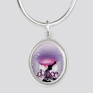 Dance Angel by DanceShirts.co Silver Oval Necklace