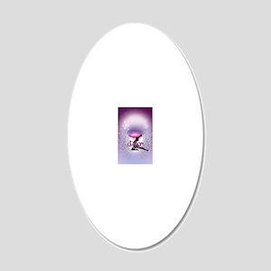 Dance Angel by DanceShirts.c 20x12 Oval Wall Decal