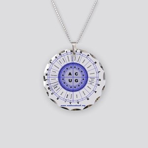 Genetic code (blue) Necklace Circle Charm