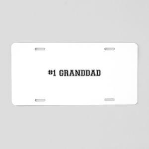 #1 Granddad Aluminum License Plate