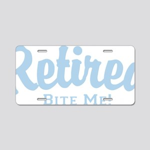 ret50dark Aluminum License Plate