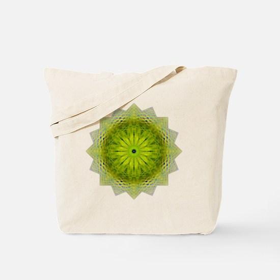 Green Flower Heart Chakra Mandala Yoga Sh Tote Bag