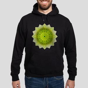 Green Flower Heart Chakra Mandala Yo Hoodie (dark)