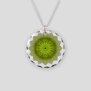 Green Flower Heart Chakra Ma Necklace Circle Charm
