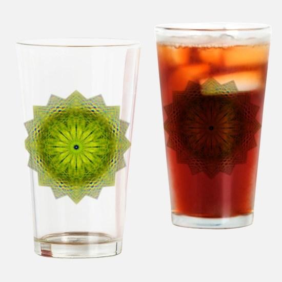Green Flower Heart Chakra Mandala Y Drinking Glass