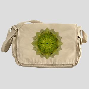 Green Flower Heart Chakra Mandala Yo Messenger Bag