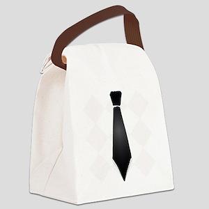 Black tie preppy Canvas Lunch Bag