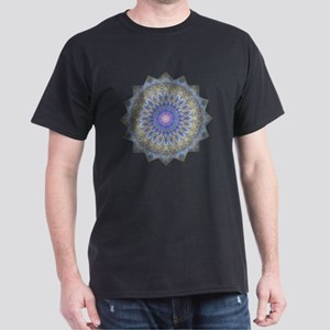 Blue Purple Yoga Mandala Shirt Dark T-Shirt