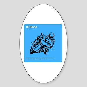 iRide Motorcycle Oval Sticker