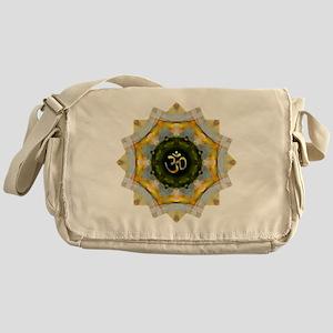 Gold Green Yoga Om Mandala Shirt Messenger Bag