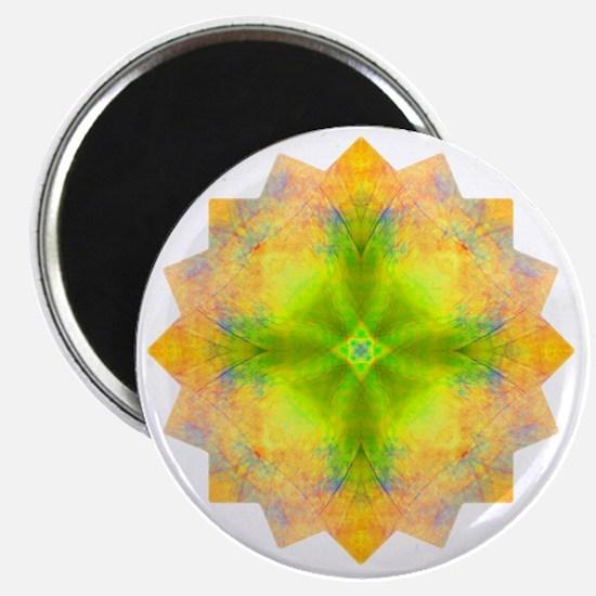 Rainbow Heart Yoga Mandala Shirt Magnet