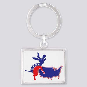 SCREWED-BY-DONKEY Landscape Keychain