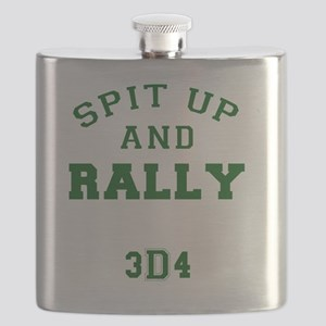 Spit Up and Rally - Med Green 3d4 Flask