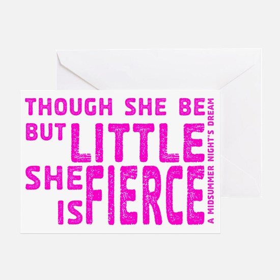 She is Fierce - Stamped Pink Greeting Card