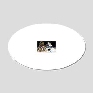 buntreecard 20x12 Oval Wall Decal