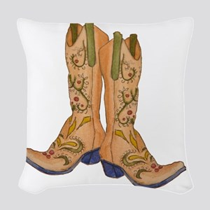 CowgirlBootCP2 Woven Throw Pillow