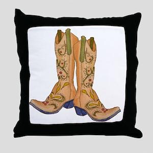 CowgirlBootCP2 Throw Pillow