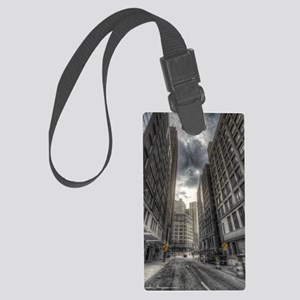 38.5x24.5 Wall Decal - DetroitCi Large Luggage Tag