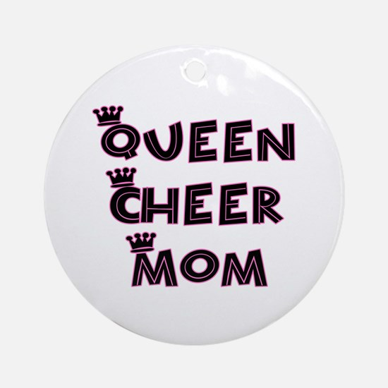 Queen Cheer Mom Ornament (Round)