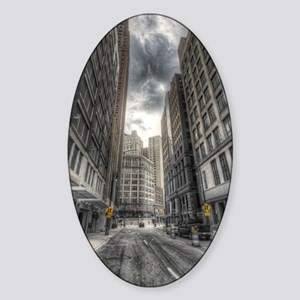 iPadSleeve-detroitCity Sticker (Oval)