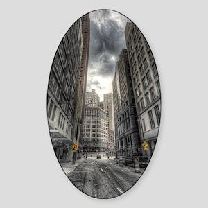 ipad2-Detroit City Sticker (Oval)