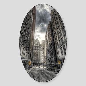 iPad.Case-DetroitCity Sticker (Oval)