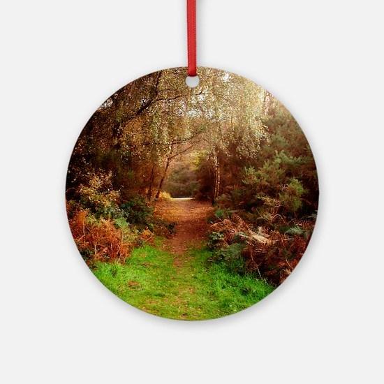 Autumn Path Round Ornament