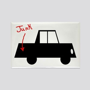 Junk in the Trunk Rectangle Magnet
